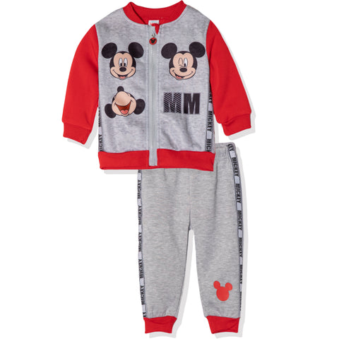 Disney Mickey Mouse Baby Boys Outfit Set Tracksuit 3-24 Months - Red