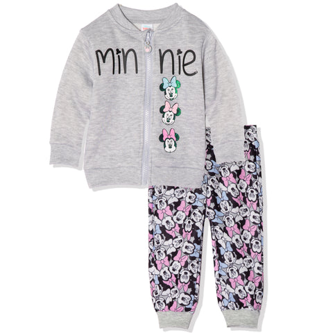 Disney Minnie Mouse Baby Girls Outfit Set Tracksuit 3-24 Months - Grey