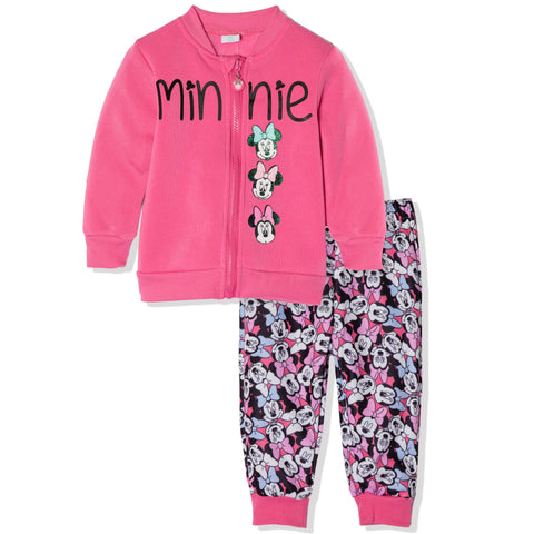 Disney Minnie Mouse Baby Girls Outfit Set Tracksuit 3-24 Months - Pink