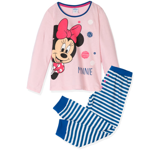 Disney Minnie Mouse Girls Long Sleeve Cotton Pyjamas Set 3-9 years - Pink
