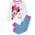 Disney Minnie Mouse Girls Long Sleeve Cotton Pyjamas Set 3-9 years - White