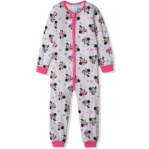 Disney Minnie Mouse Cotton Onesie / Sleepsuit Pyjamas for Girl's 3-8 years - Grey