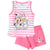Disney Minnie Mouse Girls Summer Outfit clothes Set of Shorts and Vest - 2-8 years