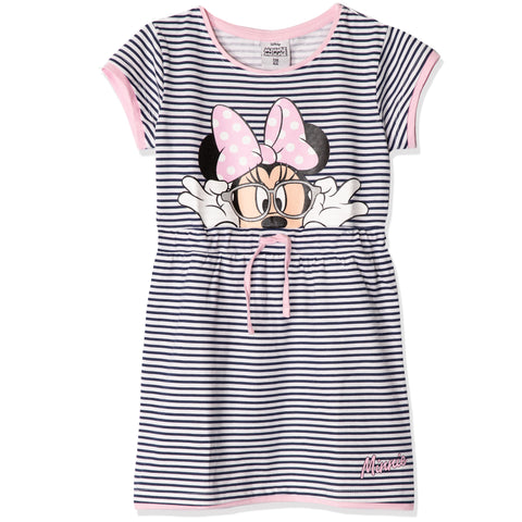 Disney Minnie Mouse Short Sleeve 100% Cotton Summer Dress 2-8 years