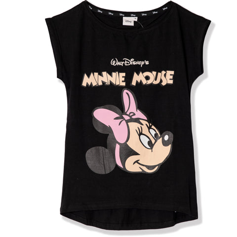 Disney Minnie Mouse Women's Cotton T-Shirt S, M, L, XL - Classic, Black