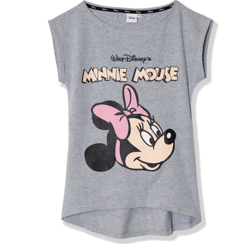 Disney Minnie Mouse Women's Cotton T-Shirt S, M, L, XL - Classic, Grey