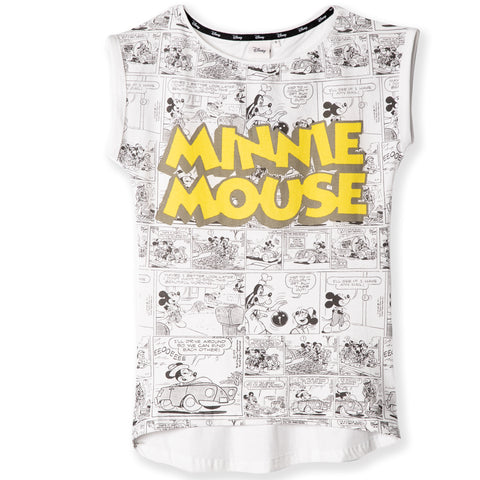 Disney Minnie Mouse Women's Cotton T-Shirt S, M, L, XL - Comic Pattern