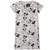 Disney Minnie & Mickey Mouse Women's Short Sleeve Nightdress S, M, L, XL - Grey