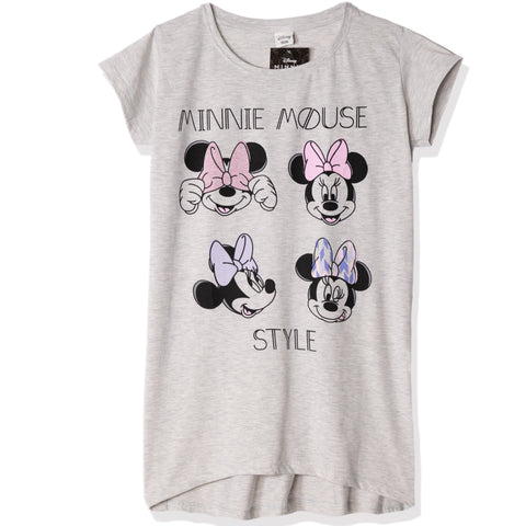 Disney Minnie Mouse Women's Short Sleeve Nightdress S, M, L, XL - Grey