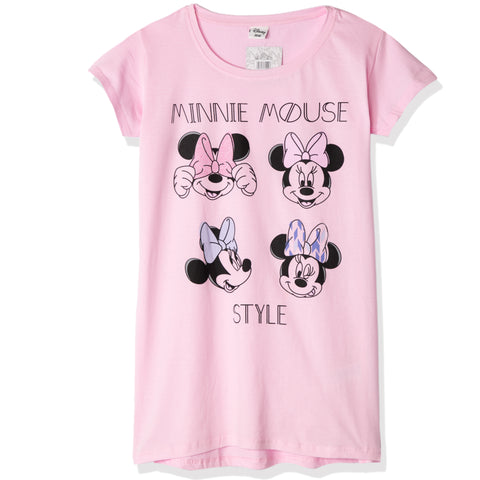 Disney Minnie Mouse Women's Short Sleeve Nightdress S, M, L, XL - Pink
