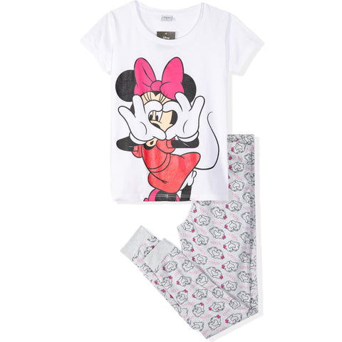 Disney Minnie Mouse T-Shirt and Trousers Women's Pyjamas Set - White