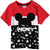 Disney Mickey Mouse Boy's Short Sleeve Cotton T-Shirt 2-8 yrs - Red