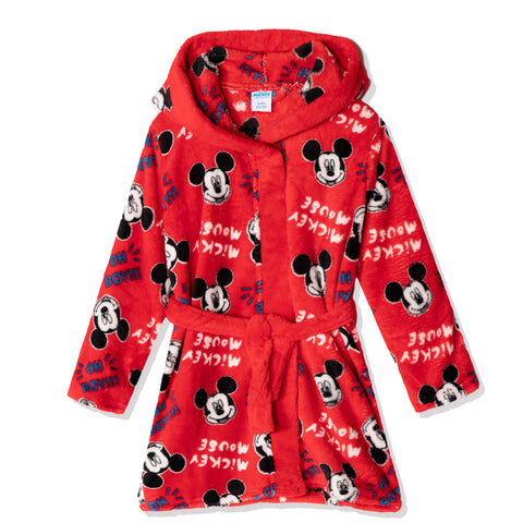 Disney Mickey Mouse Hooded Bathrobe/Dressing Gown for boys girls 2-8 years