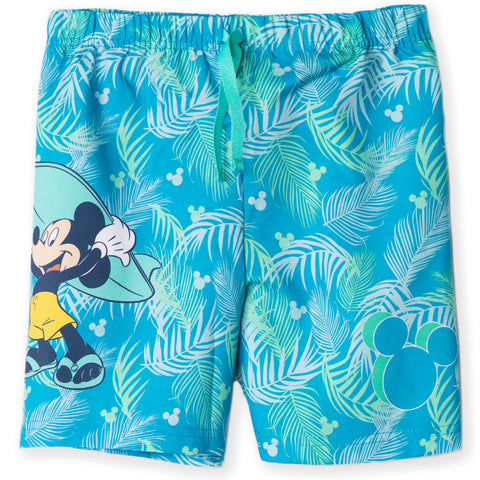 Disney Mickey Mouse Boys Swimming Shorts, Trunks 2-8 Years - Turquoise