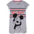 Disney Mickey Mouse Women's Short Sleeve Sleeping T-Shirt, Nightdress S, M, L, XL - Grey, So Shy
