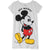 Disney Mickey Mouse Women's Short Sleeve Nightdress S, M, L, XL - Grey