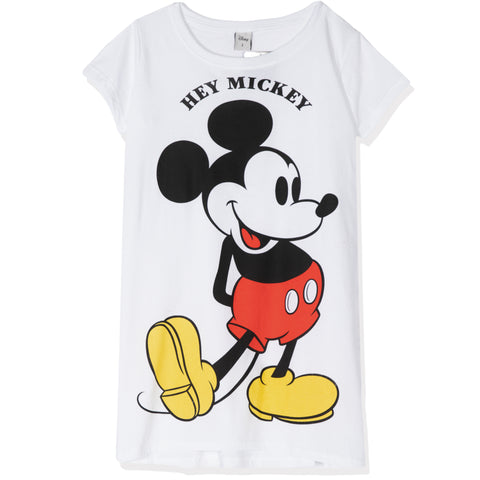 Disney Mickey Mouse Women's Short Sleeve Nightdress S, M, L, XL - White