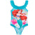 Disney Princess Girls One Piece Swimsuit, Swimming Costume 3-9 Years - Mermaid