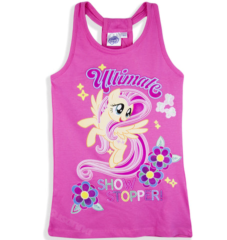 My Little Pony Girls Summer Dress, Long Top Tunic 100% Cotton 2-8 Years -  Pink
