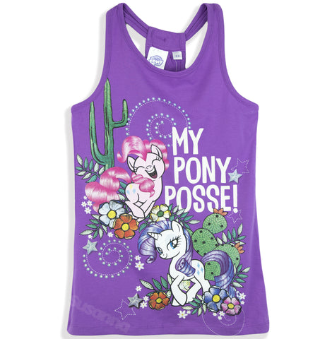 My Little Pony Girls Summer Dress, Long Top Tunic 100% Cotton 2-8 Years -  Purple