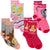 Disney Princess Socks Crew Standard Size Children's Socks Grey/Pink/Fuchsia/Blue