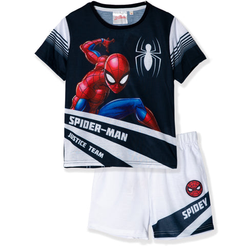 Spiderman Sport Outfit Set T-Shirt and Shorts for Boys 2-8y - Navy