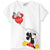 Disney Minnie & Mickey Mouse Cotton Top, T-Shirt for Girls 2-8 Years - White