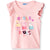 Peppa Pig 100% Cotton Top, T-Shirt for Girls 2-6 Years - Pastel Peach