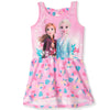 Disney Frozen 2 Short Sleeve 100% Cotton Summer Dress 3-8 Years - Pink
