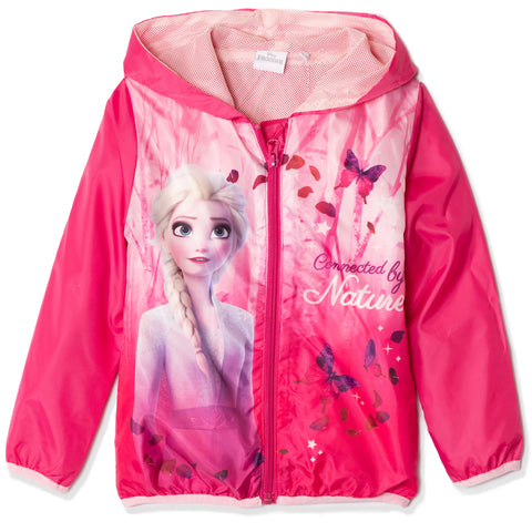 Disney Frozen 2 Jacket, lightweight Windbreaker - Girls 3-8 years - Fuchsia