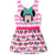 Disney Minnie Mouse Sleeveless 100% Cotton Summer Dress 2-8 Years - Pink