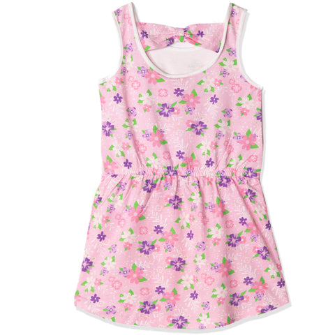 Disney Princess Short Sleeve 100% Cotton Summer Dress 2-6 years - Pink