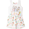 Disney Princess Short Sleeve 100% Cotton Summer Dress 2-6 years - White