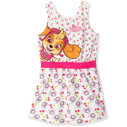 Paw Patrol 100% Cotton Sleeveless Summer Dress 2-6 Years - White