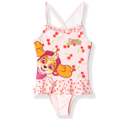 Paw Patrol Swimming Costume for Girls 2-6 years - Pink, Fruits
