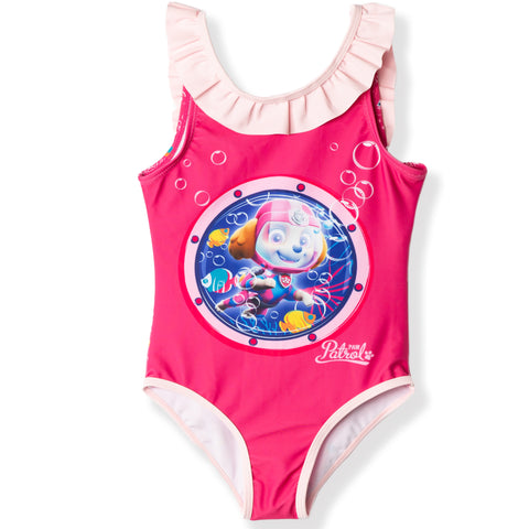 Paw Patrol Swimming Costume for Girls 2-6 years - Fuchsia , Sea Patrol