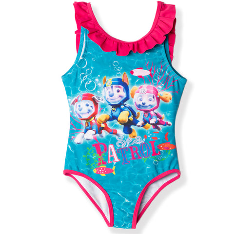 Paw Patrol Swimming Costume for Girls 2-6 years - Turquoise , Sea Patrol