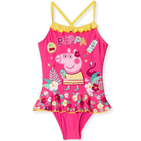 Peppa Pig one piece Swimming Costume for Girls 2-6 years - Fuchsia