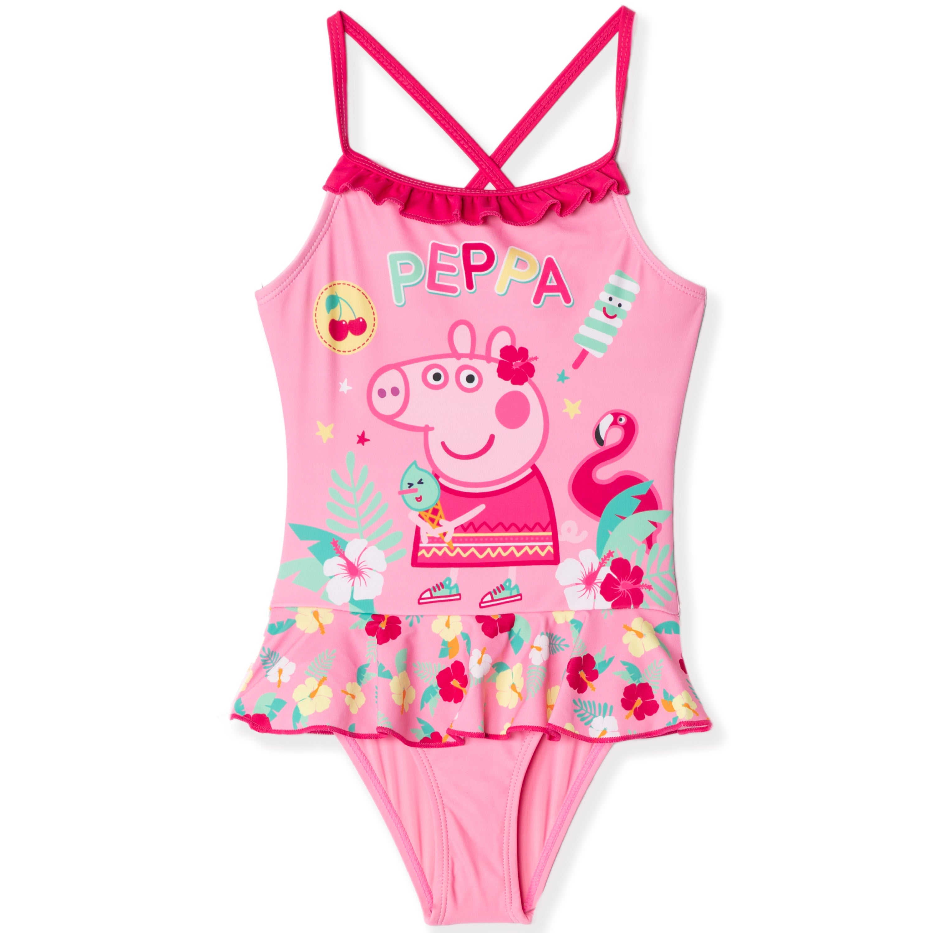 Peppa Pig 2 Pieces Summer Bathing Suit for Baby//Toddler Girls 85/% Polyester-15/% Elasthane