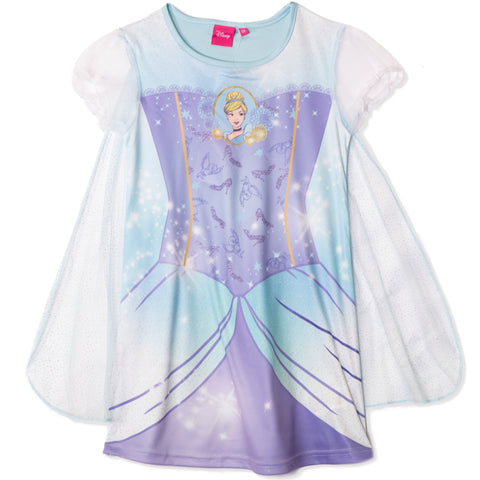 Disney Princess Girls Short Sleeve Fancy Nightdress 2-6 years - Cinderella, Pink