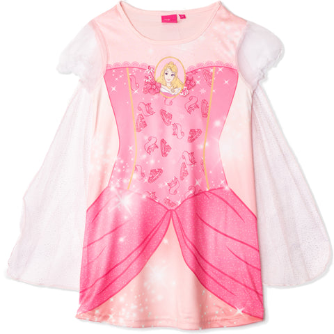 Disney Princess Girls Short Sleeve Fancy Nightdress 2-6 years - Aurora, Pink