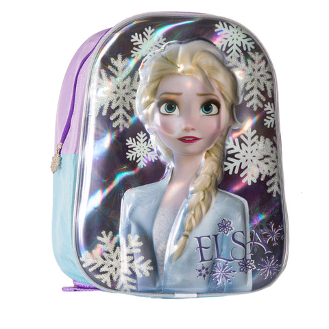 Disney Frozen 2 Girls Backpack with Elsa & Anna 3D Characters Picture - Hologram effect