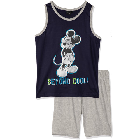 Disney Mickey Mouse Men's Pyjamas, Vest and Shorts Set S- XL - Navy