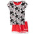 Disney Mickey Mouse Women's T-Shirt and Shorts Pyjamas Set S, M, L, XL - Red