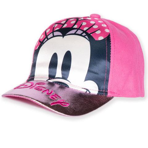 Disney Minnie Mouse Baseball Cap, Sun Hat - Metallic Effect girls 2-8 years - Pink