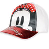 Disney Minnie Mouse Baseball Cap, Sun Hat - Metallic Effect girls 2-8 years - Red