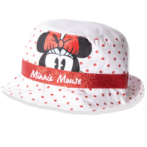 Disney Minnie Mouse Baby Girl's Summer Bucket Hat 0-2 Years - White