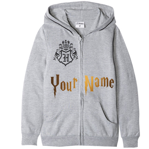 Personalised Metallic Name Harry Potter Boys Girls Hoodie for 3-13 years