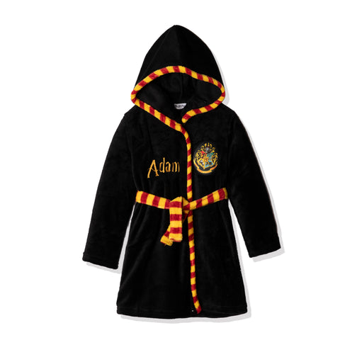 Harry Potter Coral Fleece Bathrobe/ Dressing Gown for Kids 6-13 years - Personalisation