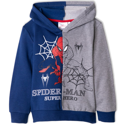 Spiderman Marvel Boy's Fleece Hoodie, Sweatshirt 2-8 Years - Navy